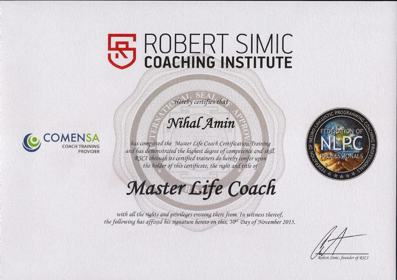 Nihal Life Coaching Certifications